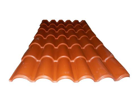 Placa imitacion teja rojo 1840x980 mm for Placa imitacion teja